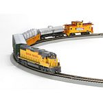 HO GP38-2 Iron Horse Train Set,UP/Lightning Stripe