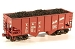 HO Scale Coal Load - 2 Various Pieces -- For Accurail USRA 55-Ton 2-Bay Open Hopper (4-1/8 x 1-1/4