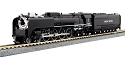 N 4-8-4 FEF-3 Union Pacific #844 - Black Paint version w/ Pre-installed TCS DCC