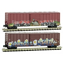 Z Scale Birds-of-a-Feather Thanksgiving graffiti 2-Pack