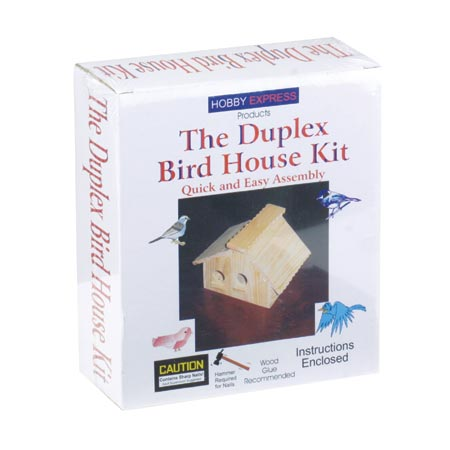 pine pro duplex bird house kit