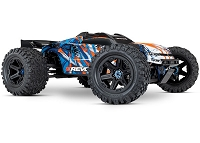 E-Revo VXL Brushless:  1/10 Scale 4WD Brushless Electric Monster Truck with TQi 2.4GHz Traxxas Link Enabled Radio System and Traxxas Stability Management (TSM) - ORANGE