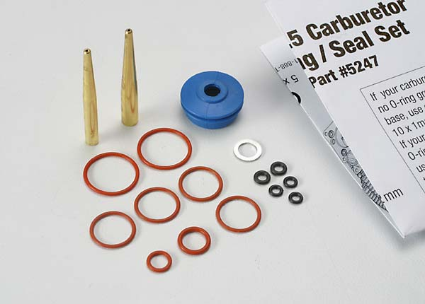O-ring and seal set, carburetor/ O-rings: 2x1mm (3), 10x1mm (4), 2.5 ...
