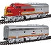 HO Scale Super Chief F3A-B Set, w/Sound/DCC  -- Santa Fe #16C / 16B