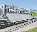 Train Shed with Clear Roof -- Kit: 22-3/8 x 11-9/16 x 6-1/4