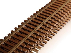 Micro-Engineering, HO Scale Flex weathered 3' code 83   6/pk