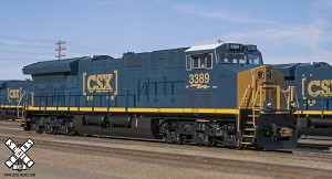 GE Tier 4 with DCC & Sound, CSX #3370
