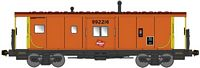 Bluford Shops N International Car Bay Window Caboose Phase 4 - Ready to Run -- Milwaukee Road 992218 (orange, Boxcar Red, yellow, TMR Logo on Bay)