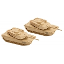 N M1 Abrams Tank 2-Pack Kit