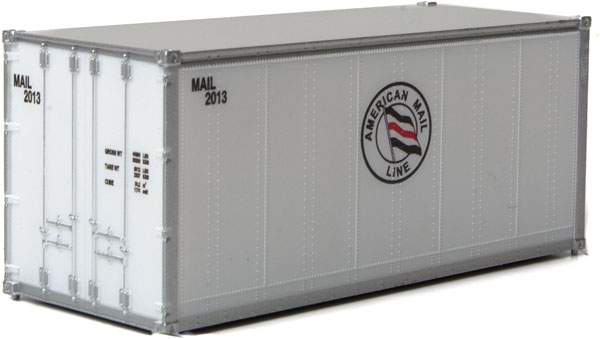 Walthers 20' Smooth-Side Container - Ready to Run -- American Mail Line
