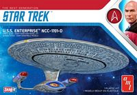 AMT 1/25000 Star Trek USS Enterprise-D, Snap Plastic Model Kit