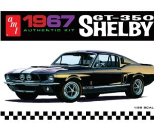 AMT 1/25 '67 Shelby GT350, Black Plastic Model Kit