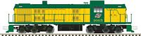 Alco RSD4/5 - Standard DC - Classic Silver -- Chicago & North Western 1665 (yellow, green)