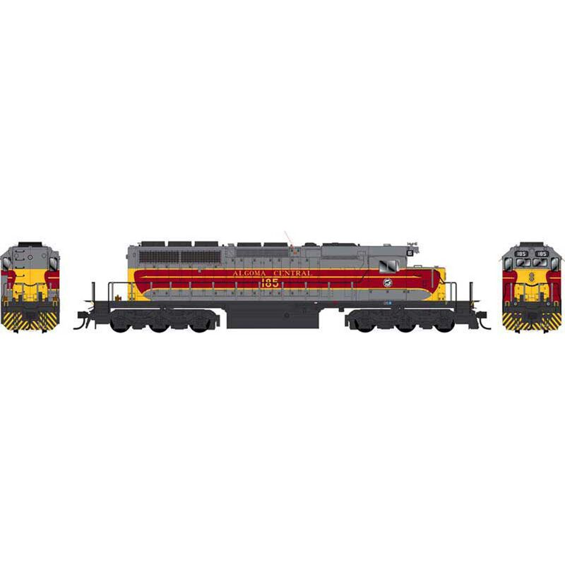 Bowser HO GMD SD40-2 - LokSound & DCC - Executive Line -- Algoma Central 186 (gray, maroon, yellow)