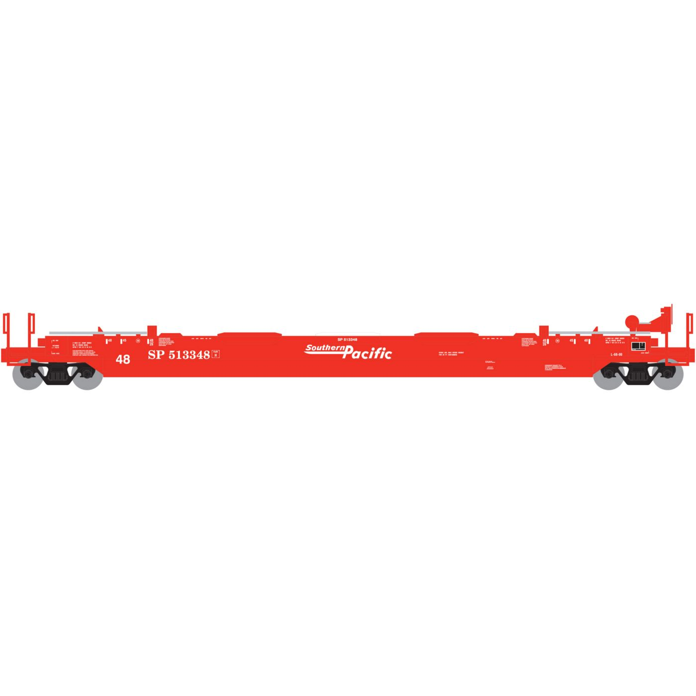 Athearn HO RTR Husky Stack Well TTX Red Logo #56222 ATH5899