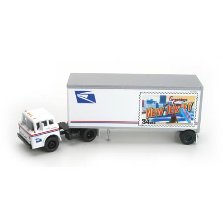 HO RTR Ford C w/28' Trailer, USPS/New Jersey