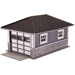 Garage - Laser-Cut Micro Plywood Kit -- 1-Car, Matches Barb's Bungalow (Sold Separately) pkg(2)