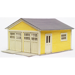 Garage - Laser-Cut Micro Plywood Kit; pkg(2) -- 2-Car, For Kate's Colonial Home (Sold Separately)