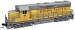 EMD GP35 Phase Ib w/Dynamic Brakes - Standard DC - Master(R) -- Union Pacific #794 (Armour Yellow, gray, Large Lettering)