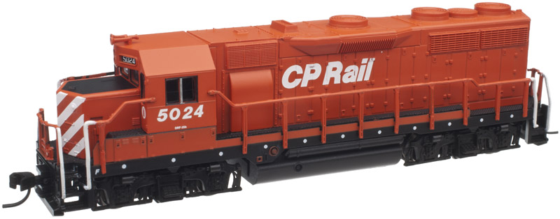 EMD GP35 Phase Ib No Dynamic Brakes w/DCC - Master(R) -- Canadian Pacific #5023 (Action Red, white, black, Multimark Logo)