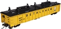 Thrall 2743 Covered Gondola - Ready to Run - Master(R) -- Bethlehem Steel #260100 (yellow, black)