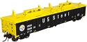 Thrall 2743 Covered Gondola - Ready to Run - Master(R) -- US Steel #260001 (black, white, yellow Conspicuity Marks)