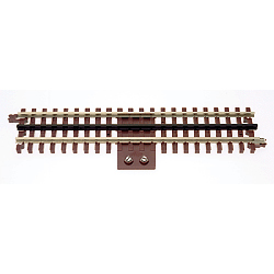 21st Century Track System(TM) Nickel Silver Rail w/Brown Ties - 3-Rail -- Terminal Track, 10