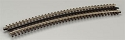 21st Century Track System(TM) Nickel Silver Rail w/Brown Ties - 3-Rail -- O-81 Full Curved Section (16 pcs./Circle)