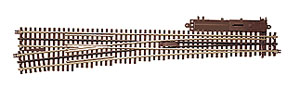 Atlas O 21st  Century Track System(TM) Nickel Silver Rail w/Brown Ties - 3-Rail -- #7.5 High-Speed Switch - Right-Hand