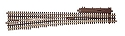 21st Century Track System(TM) Nickel Silver Rail w/Brown Ties - 3-Rail -- #7.5 High-Speed Switch - Right-Hand
