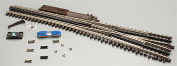 Atlas O 21st  Century Track System(TM) Nickel Silver Rail w/Brown Ties - 3-Rail -- #5 Turnout Right Hand