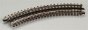 21st Century Track System(TM) Nickel Silver Rail w/Brown Ties - 3-Rail -- O27 Full Curved Section (8 pcs./circle)