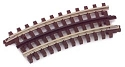 21st Century Track System(TM) Nickel Silver Rail w/Brown Ties - 3-Rail -- 027 Half Curved Section