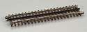 21st Century Track System(TM) Nickel Silver Rail w/Brown Ties - 3-Rail -- Straight - 10
