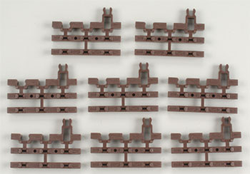 21st Century Track System(TM) Nickel Silver Rail w/Brown Ties - 3-Rail -- End Snap Section