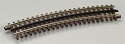 21st Century Track System(TM) Nickel Silver Rail w/Brown Ties - 3-Rail -- O54 Full Curved Section (16pcs./circle)