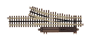 Atlas O 21st  Century Track System(TM) Nickel Silver Rail w/Brown Ties - 3-Rail -- O-54 Right-Hand Remote Custom Supreme Switch