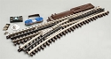 21st Century Track System(TM) Nickel Silver Rail w/Brown Ties - 3-Rail -- O72 Left Hand Remote Custom Supreme Switch