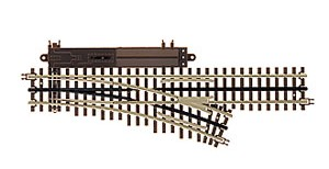 21st Century Track System(TM) Nickel Silver Rail w/Brown Ties - 3-Rail -- O72 Right Hand Remote Custom Supreme Switch