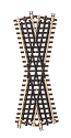 21st Century Track System(TM) Nickel Silver Rail w/Brown Ties - 3-Rail -- 22-1/2 Degree Crossing