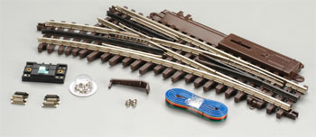 Atlas O 21st  Century Track System(TM) Nickel Silver Rail w/Brown Ties - 3-Rail -- O-45 Switch Left Hand