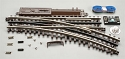 21st Century Track System(TM) Nickel Silver Rail w/Brown Ties - 3-Rail -- O-45 Switch Right Hand