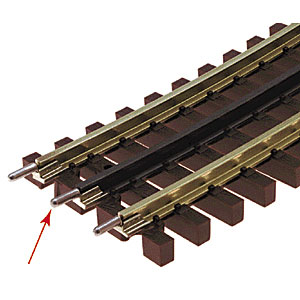 Atlas O 21st  Century Track System(TM) Nickel Silver Rail w/Brown Ties - 3-Rail -- Transition Joiners pkg(6)