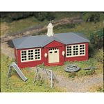 Plasticville U.S.A.(R) Classic Kits -- School House w/Playground Equipment