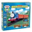 Thomas & Friends(TM) -- Thomas the Tank Engine with Annie & Clarabel Train Set (blue, red, gold)