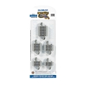 HO Connector Assortment - E-Z Track(R) -- Nickel Silver Rail & Gray Roadbed