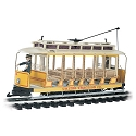 Open Streetcar w/Lights - Standard DC -- United Traction #504 (Yellow, cream)