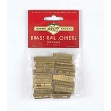 Rail Joiners -- For European-Style Track w/Brass Rail pkg(24)