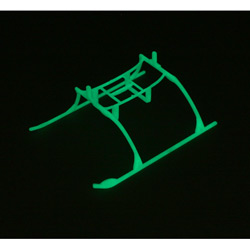 Landing Skid & Batt Mnt Set, Glow in the Dark:BMCX