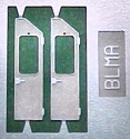 EMD Spartan Style Cab Doors (Etched Metal; pkg(2) -- Used on most models from GP35 to Standard Cab SD70